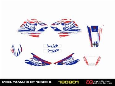 Adhesivos  YAMAHA DT125 Fox