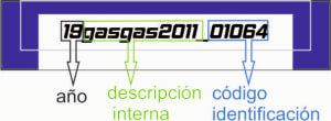 descripcion codigo gas gas
