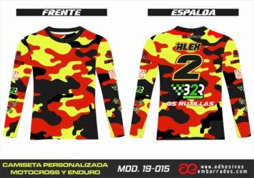 Camiseta Enduro Personalizada  MX-19-015