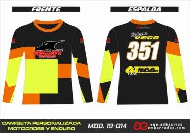 Camiseta Enduro Personalizada  MX-19-014