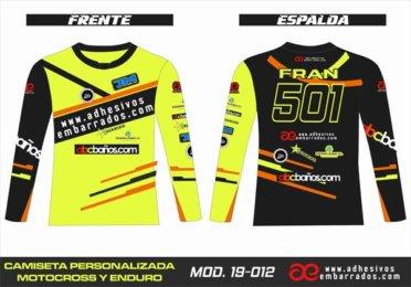 Camiseta Enduro Personalizada  MX-19-012