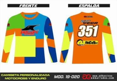 Camiseta Enduro Personalizada  MX-19-020