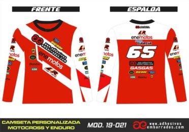 Camiseta Enduro Personalizada  MX-19-021