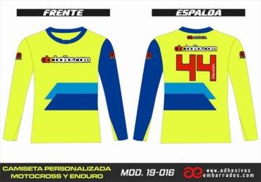 Camiseta Enduro Personalizada  MX-19-016