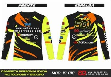 Camiseta Enduro Personalizada  MX-19-018