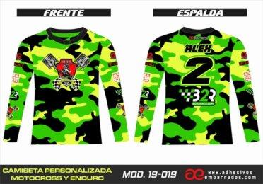 Camiseta Enduro Personalizada  MX-19-019