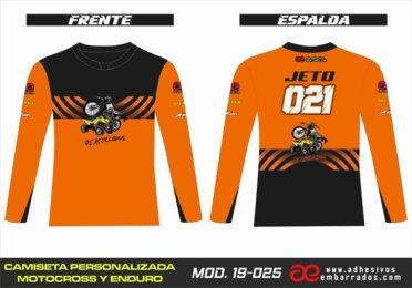 Camiseta Enduro Personalizada  MX-19-025