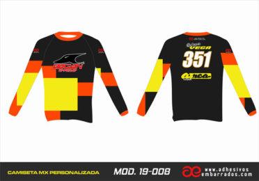 Camiseta Enduro Personalizada  MX-19-008