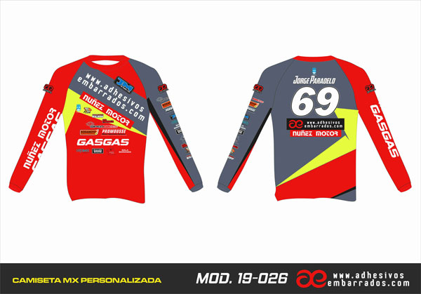 camiseta de motocross personalizada