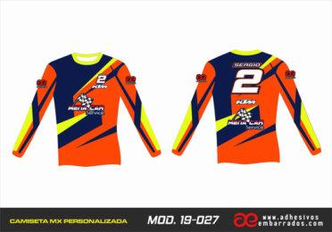 Camiseta Enduro Personalizada  MX-19-027