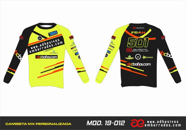 camiseta motocross personalizada fluor