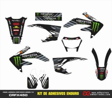 KIT ADHESIVOS HONDA CRF-X 450CC – Monster