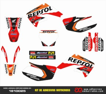 Kit De Adhesivos Honda CRF 450 – Repsol 2002-04
