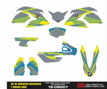 Kit De Adhesivos Bmw Challenge 650x – Amarillo