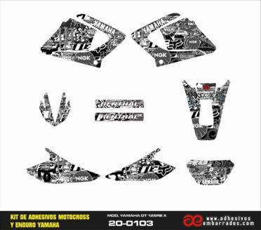 ADHESIVOS  YAMAHA DT125 – STICKERBOOM B/n