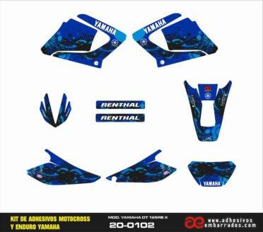 ADHESIVOS  YAMAHA DT125 – Azul