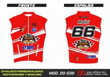 Chaleco Enduro Personalizado Mx – 038