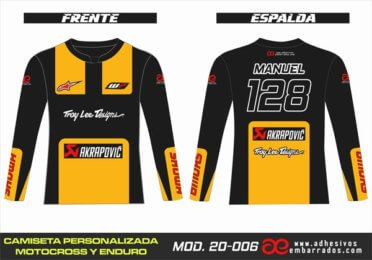 Camiseta Enduro Personalizada  MX-19-006