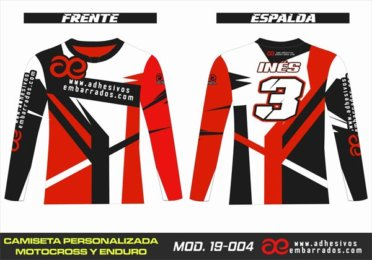 Camiseta Enduro Personalizada  MX-19-004