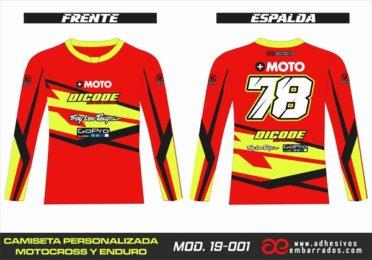 Camiseta Enduro Personalizada  MX-19-001
