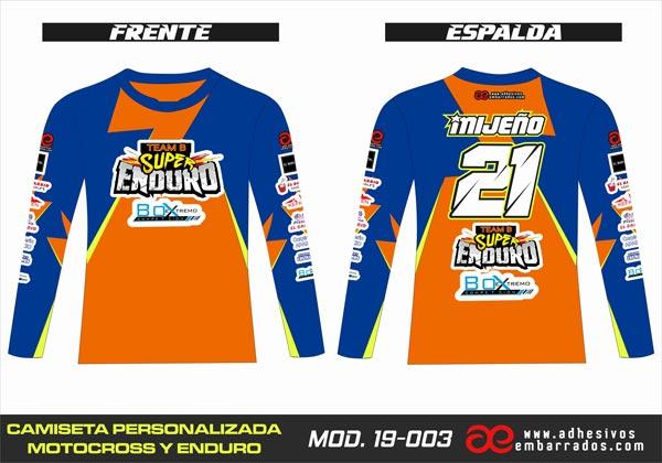 camiseta motocross personalizada