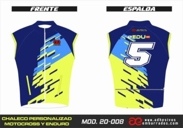 Chaleco Enduro Personalizado Mx – 008