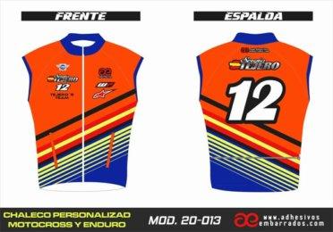 Chaleco Enduro Personalizado Mx – 013
