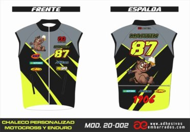 Chaleco Enduro Personalizado Mx – 012