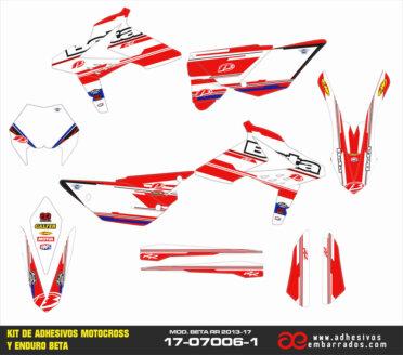 Adhesivos Beta 2013 – 17 Blanco/rojo